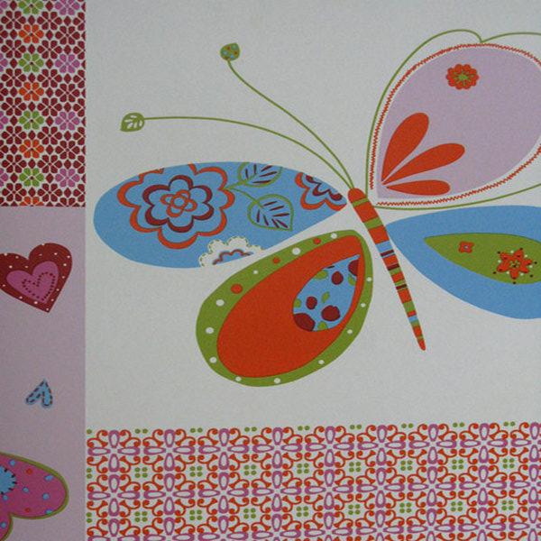 Orange Washable Kiddies Butterfly Wallpaper Design 71141