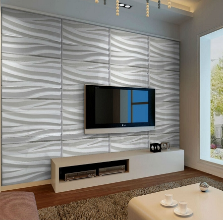 Seawave 3d wall panels decor city for 3d wall covering