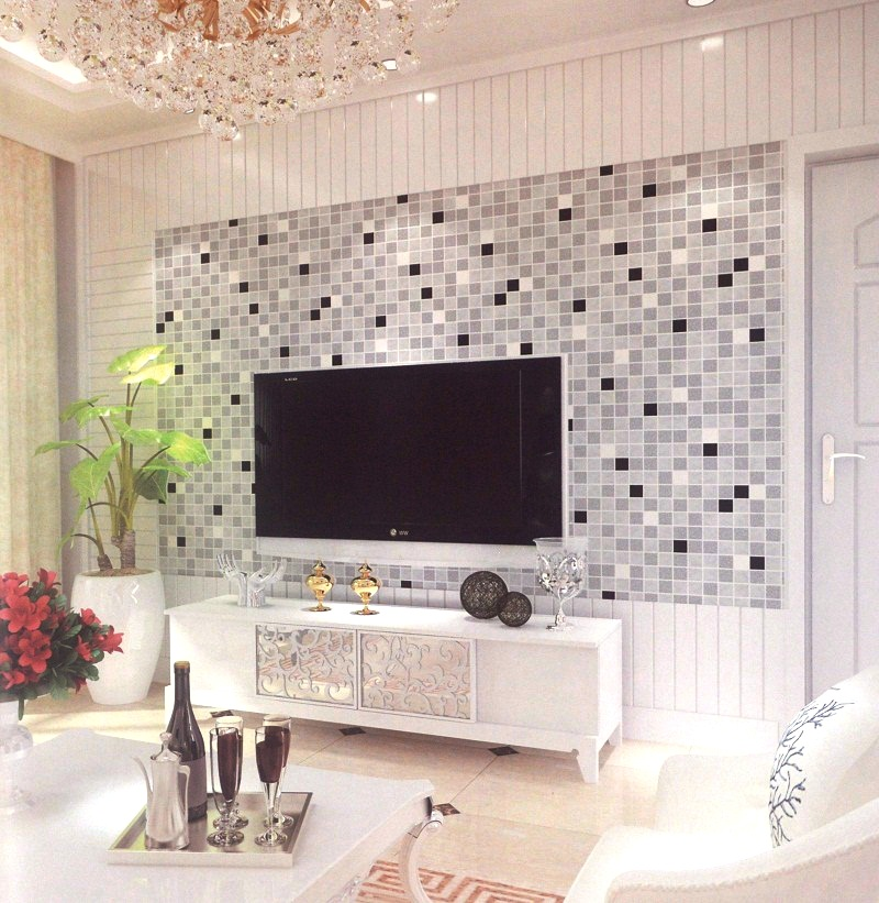 Black and silver checkers patterned wallpaper design for Home wallpaper nigeria