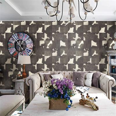 Dark grey square patterned animal skin dm0602 wallpaper for Home wallpaper nigeria