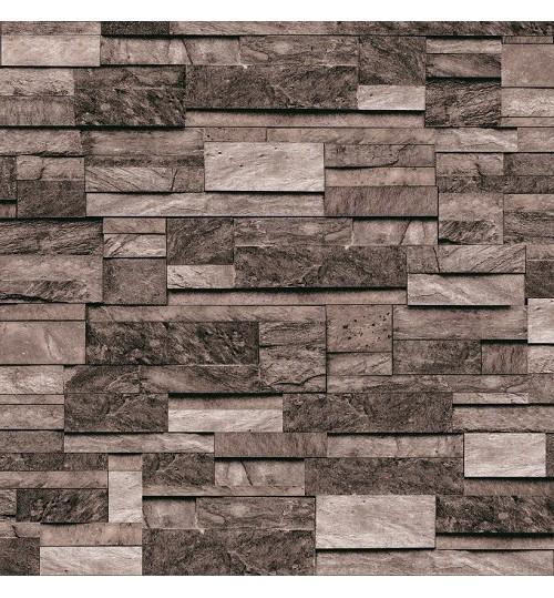 Grey Waterproof & Washable Modern Design 3D Brick ...