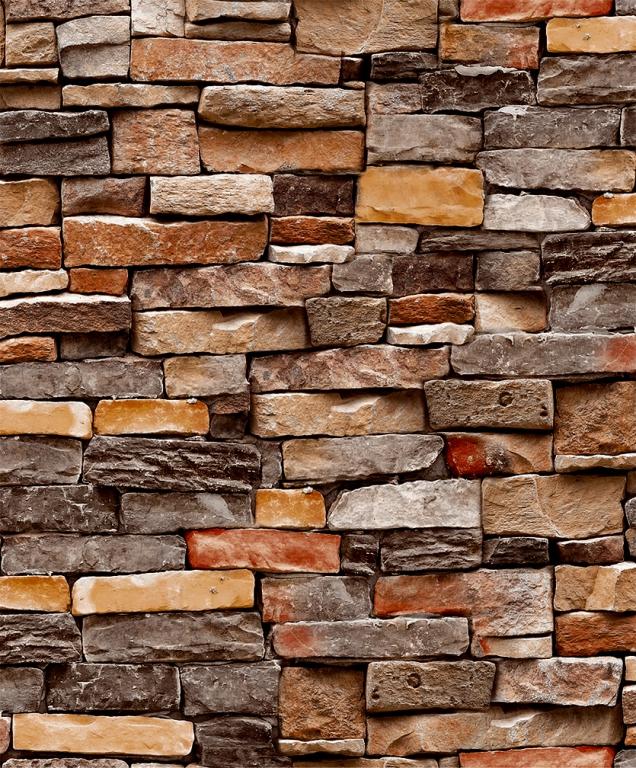 Modern Multi Color Washable 3D Brick Wallpaper Design ...