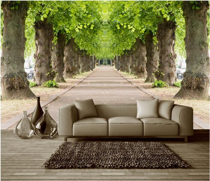 Pathway In The Woods 3d Custom Wall Murals Wallpapers Dcwm001563