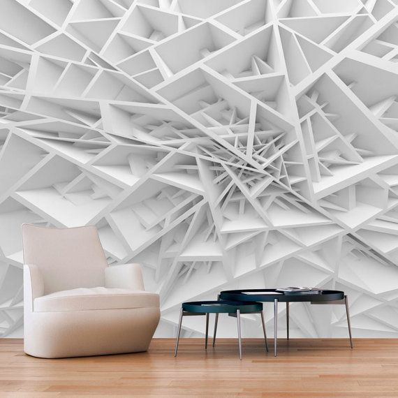Abstract Interlocked Shelvy 3d Custom Wall Murals Wallpapers