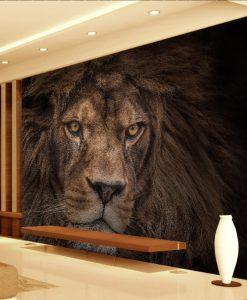 Fierce Lion Head 3d 5d 8d Wall Murals Custom Wallpaper Dcwm20061357 Decor City